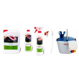 SET CRISTAL CLEAN + CRYSTAL CLEAN 5 LITROS + KIT VILEDA